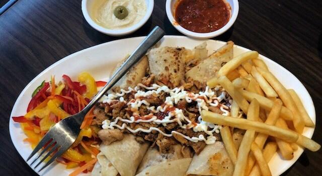 Shawarma Platter at Amigos