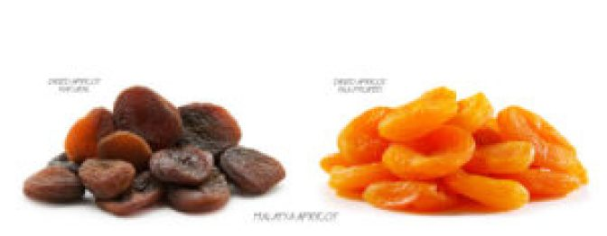 Organic apricot Vs apricot treated with supher diaoxide