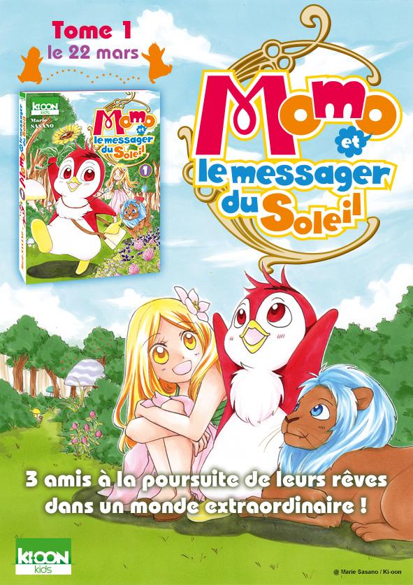 Momo Et Le Messager Du Soleil : messager, soleil, Messager, Soleil, Rejoint, Ki-oon, Actualités, Éditions