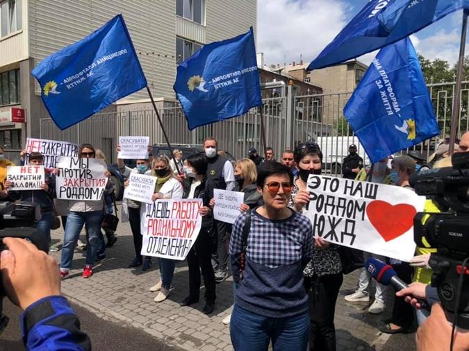 У Харкові під час протесту медиків голову міської організації