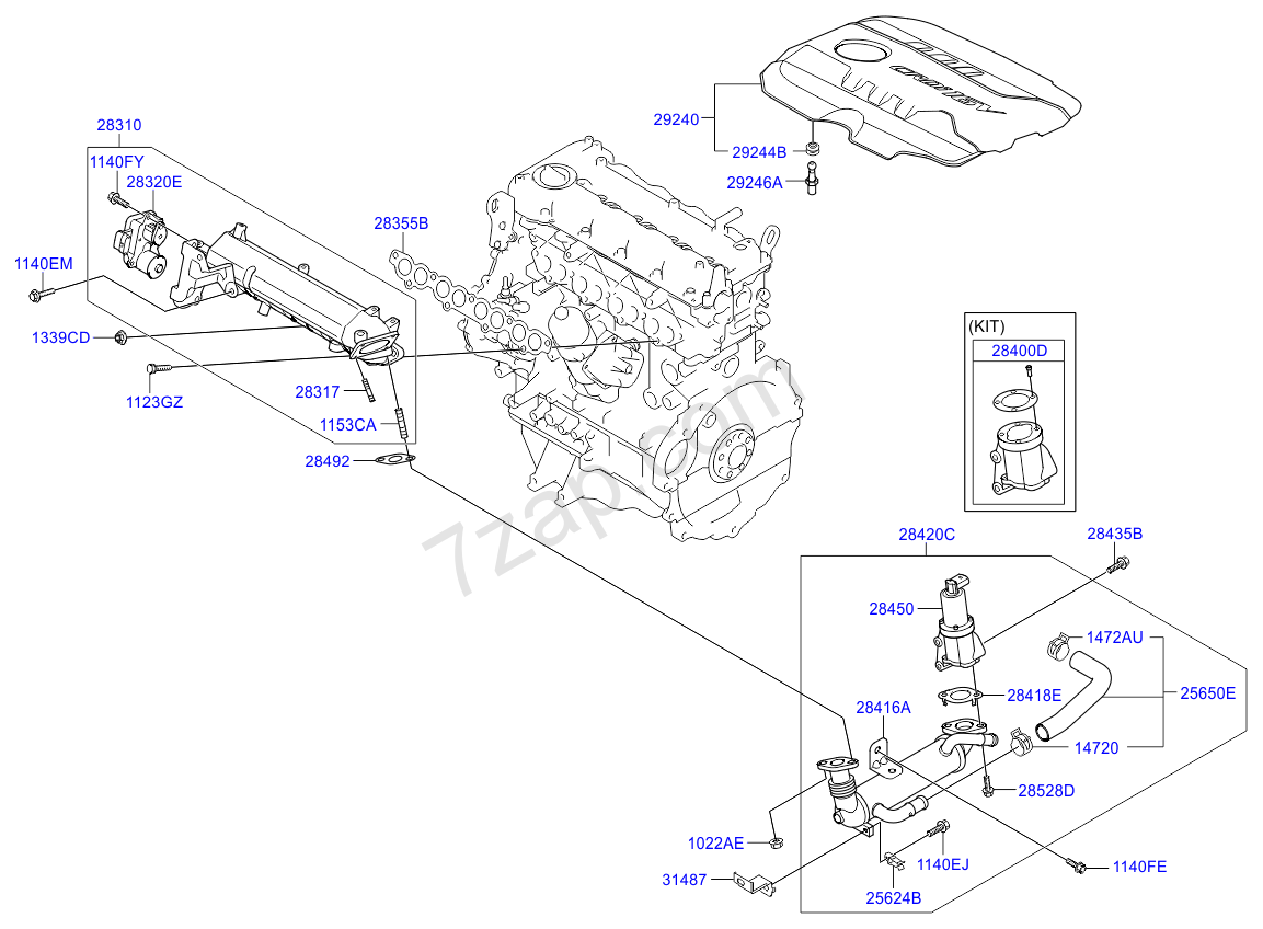 2013 Kium Soul Engine Diagram