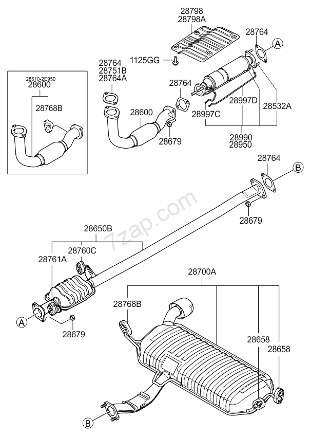 EXHAUST PIPE KIA SPORTAGE 04: SEP.2006- (2006-) [Europe]