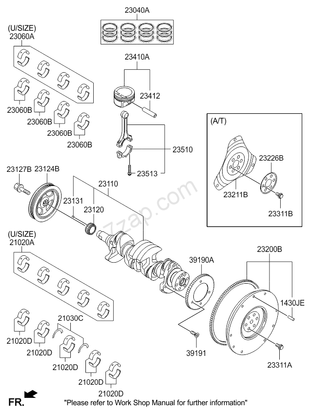 CRANKSHAFT & PISTON KIA RIO 15 (2014-) [General]