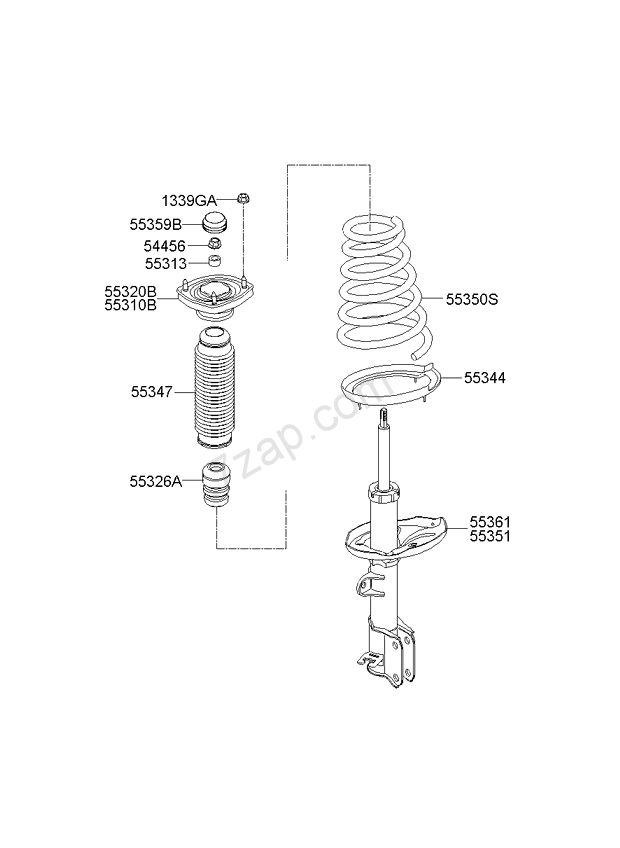 REAR SHOCK ABSORBER & SPRING KIA SPORTAGE 04: SEP.2006