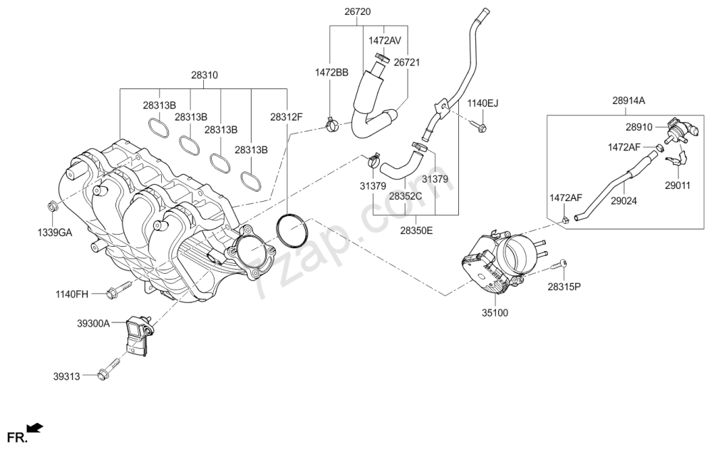 medium resolution of kia rio engine diagram intake wiring library