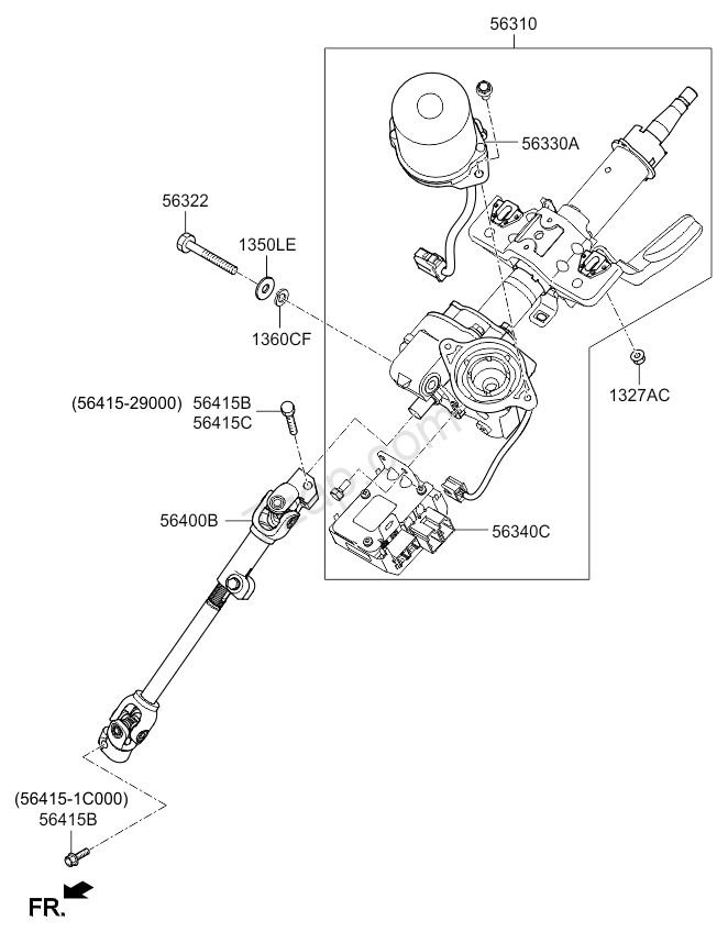 STEERING COLUMN & SHAFT KIA PICANTO 11 (2011-2015) [중동]