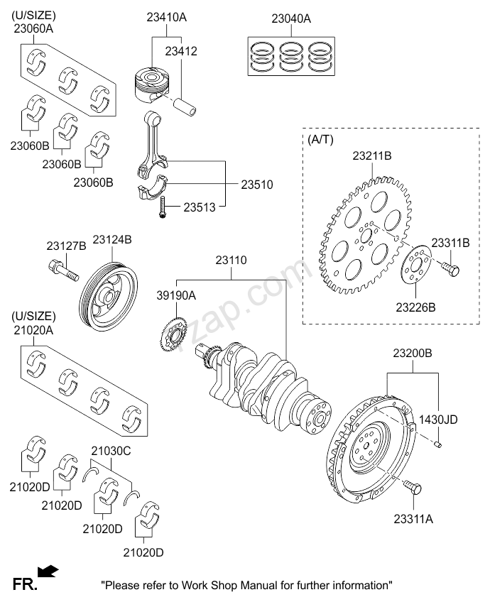 CRANKSHAFT & PISTON KIA PICANTO 15 (2015-) [Middle East]