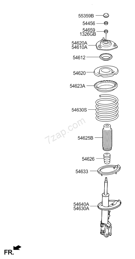 FRONT SPRING & SHOCK ABSORBER KIA CARENS 06: NOV.2006
