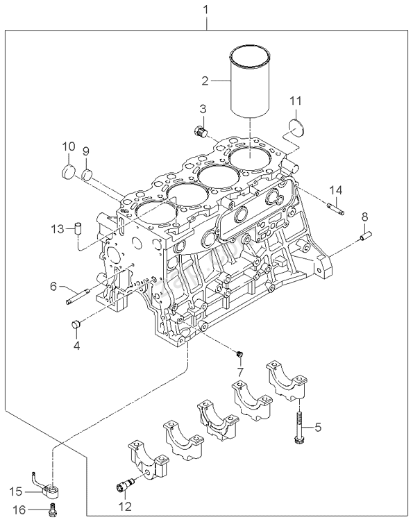 Kia K2700 Engine Diagram