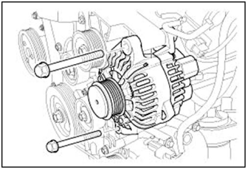 Alternator Pulley and Tensioner Replacement