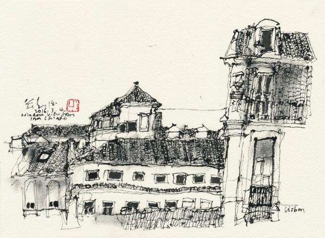 20160304 Window view from Inn Chiado, Lisbon