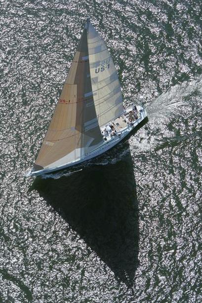 Kialoa III with US 1 sails