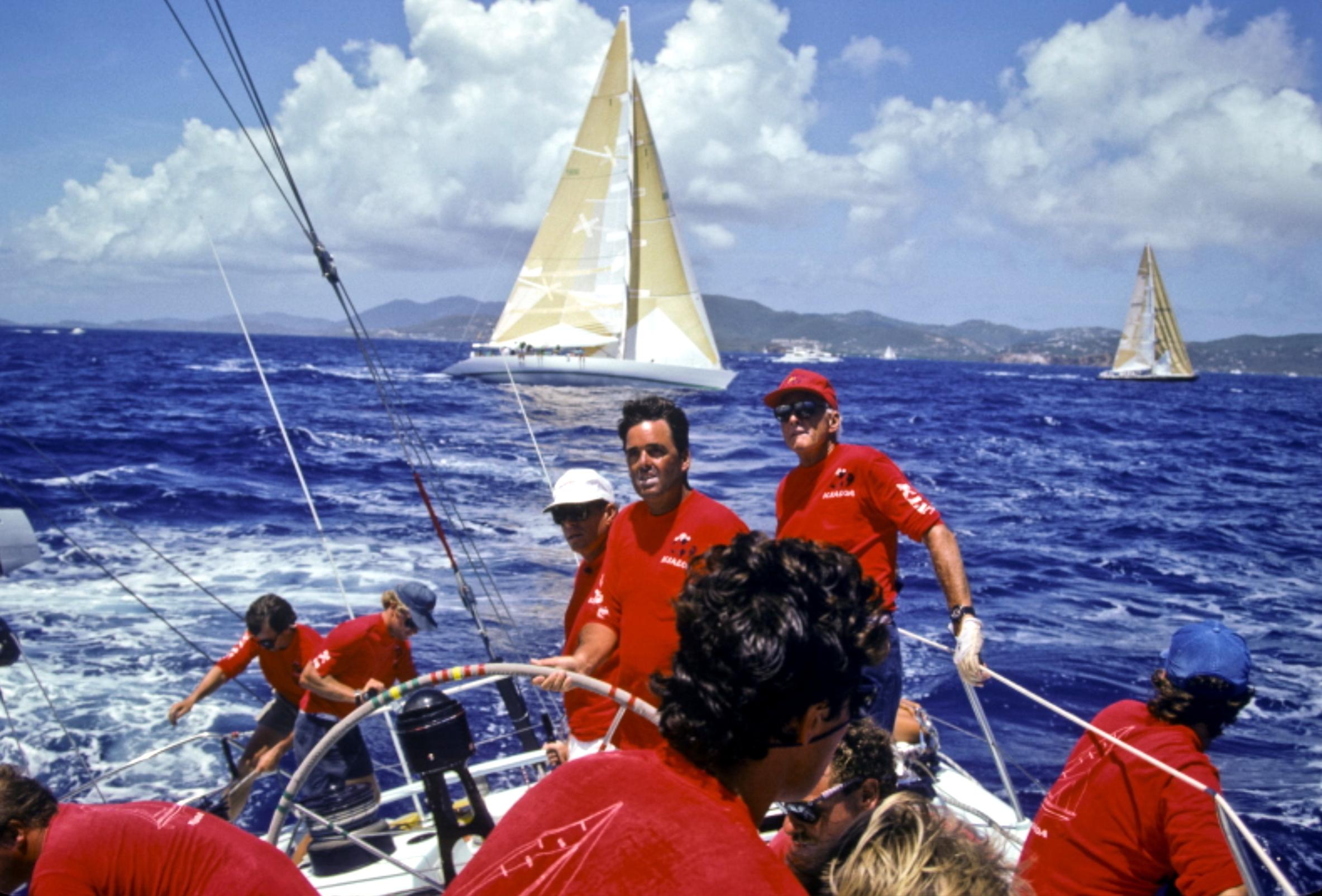 1980s, Kioloa IV, Dennis Connor steering