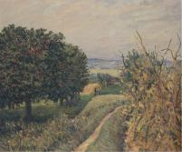 Alfred Sisley, Among the Vines Louveciennes, 1874
