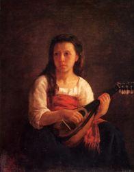 Mary Cassatt, The Mandolin Player, 1868