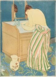 Mary Cassatt, Woman Bathing, 1890–91