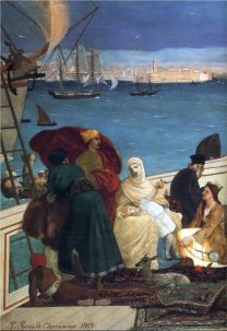 Purvis De Chavannes Marseilles, Gate to the Orient detail, 1869
