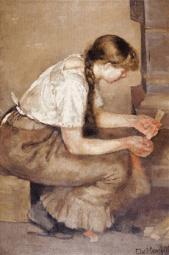 Edvard Munch, Girl Kindling a Stove, 1883