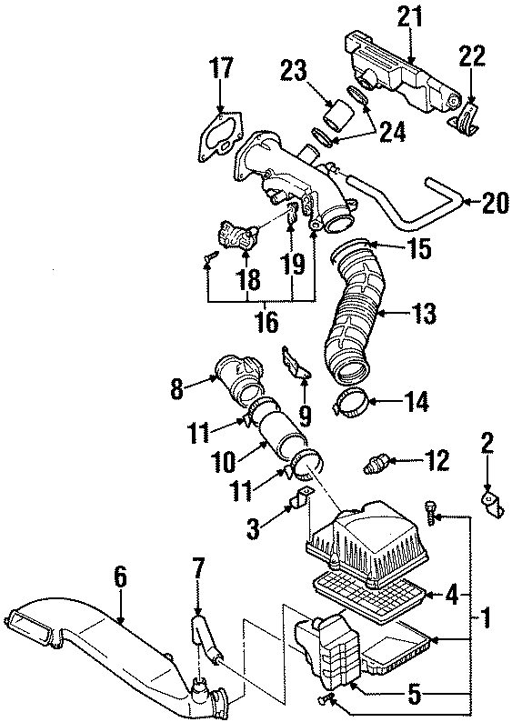 Kia Sportage Engine Air Intake Hose Seal. DOHC. Gasket