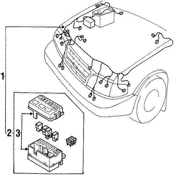 2001 Kia Sportage Engine Wiring Harness (Front). W/ABS