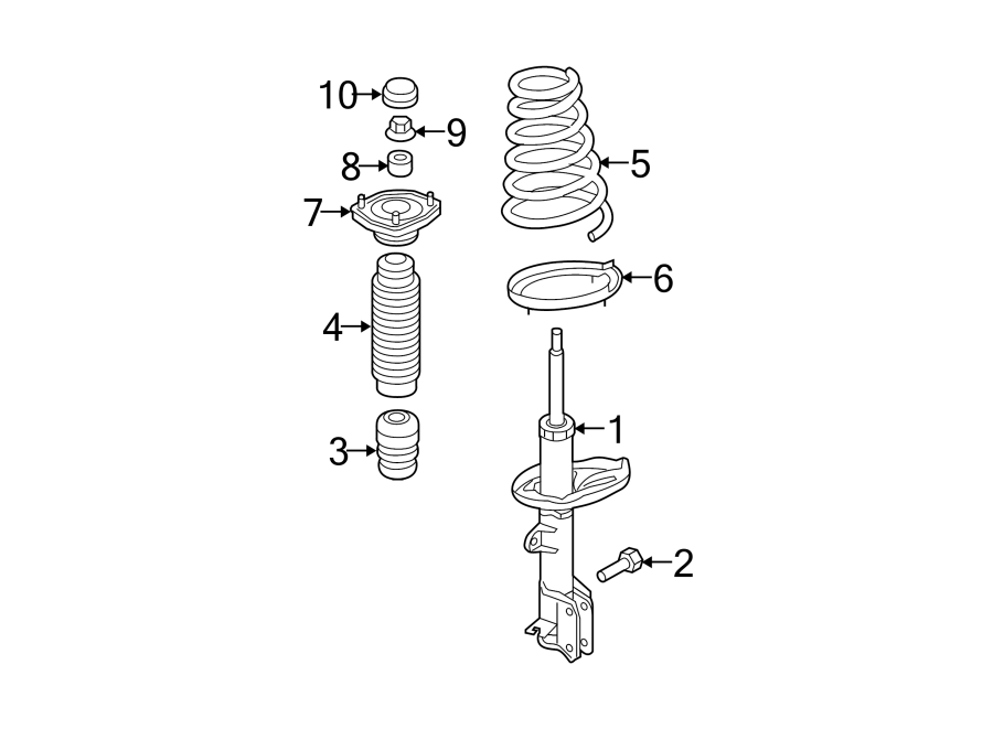 Kia Sportage Coil Spring Insulator (Rear, Upper, Lower