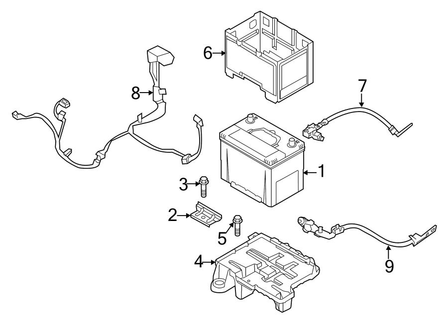 Kia Sportage Battery Cable. Battery Current Sensor. Sensor