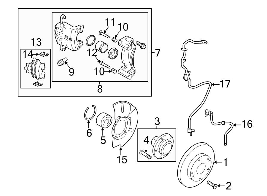 2014 Kia Forte5 Disc Brake Caliper Pin. Right, Left, Lower