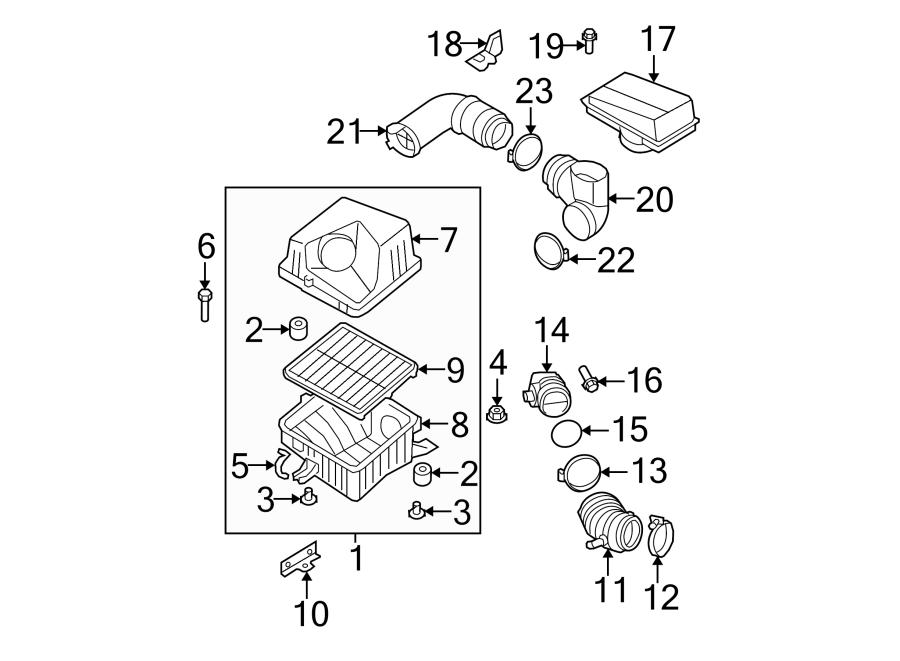 Kia Sorento Engine Air Intake Hose. LITER, Motor, Group