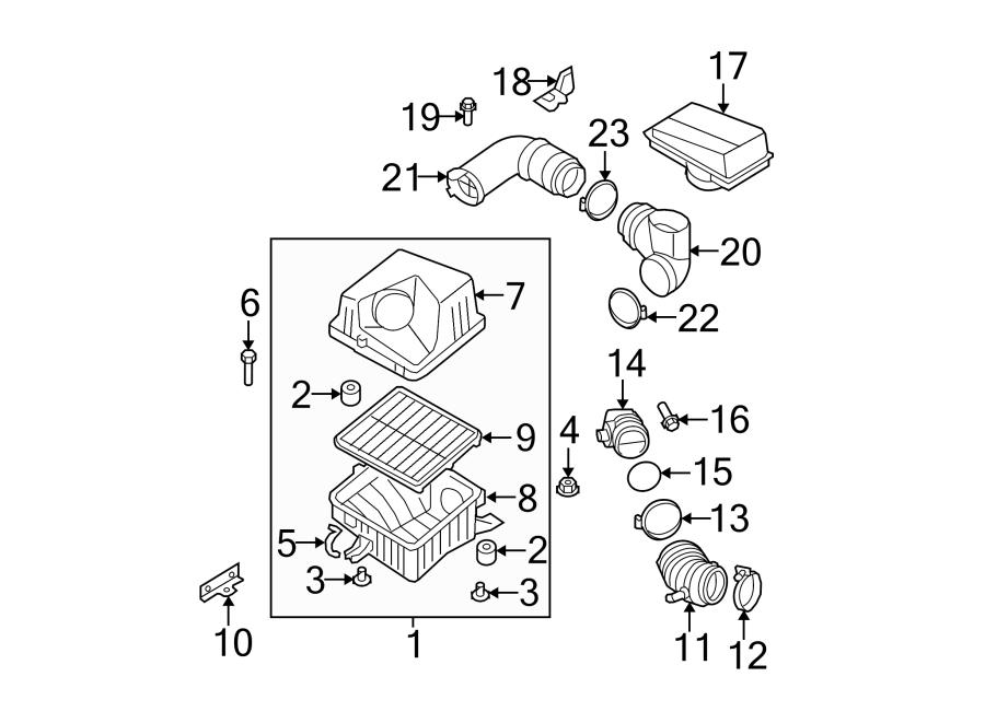 Kia Sorento Engine Air Intake Hose. 3.3 LITER. 3.8 LITER