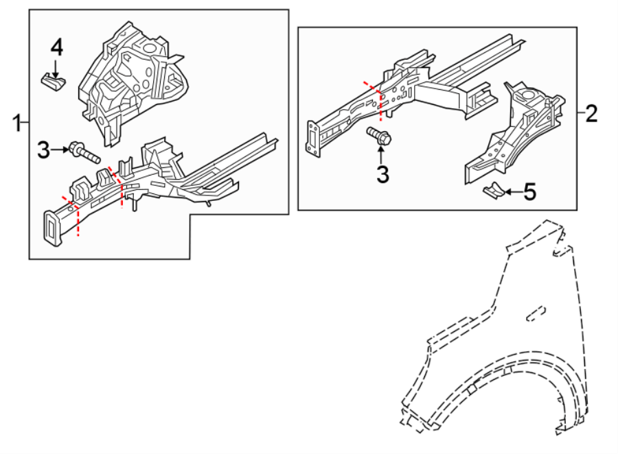 Kia Sorento Fender Apron Bracket (Front, Upper). Assembly
