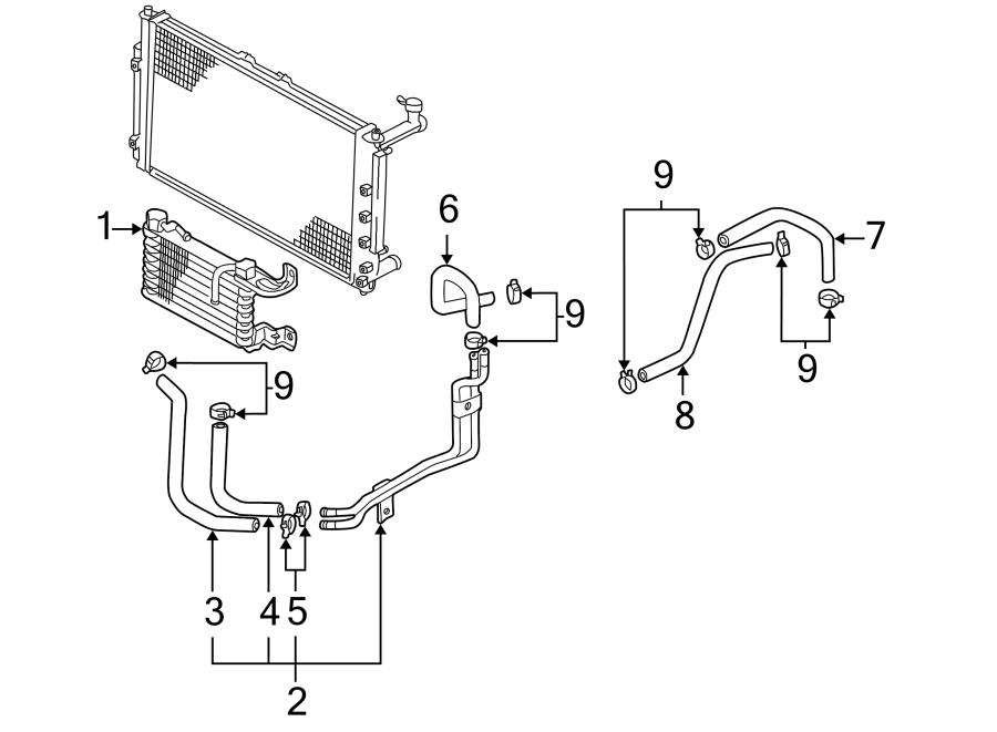 Kia Sedona Automatic Transmission Oil Cooler Hose. Make