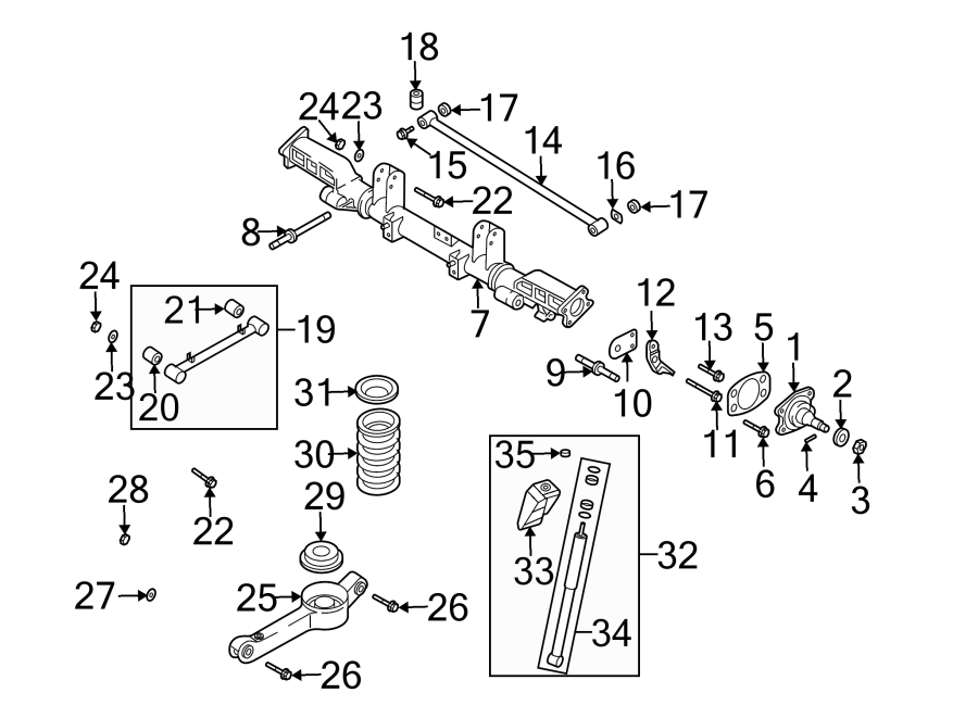 Kia Sedona Suspension Subframe (Rear). Sedona; w/ABS; From