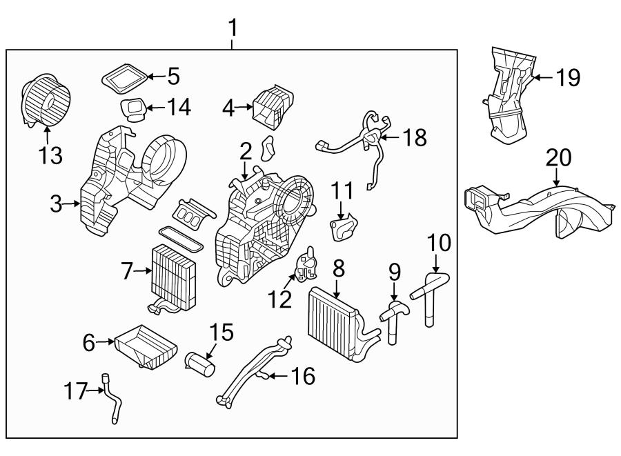 Kia Sedona Actuator. Motor. HVAC. Door. Mode. REAR, mode