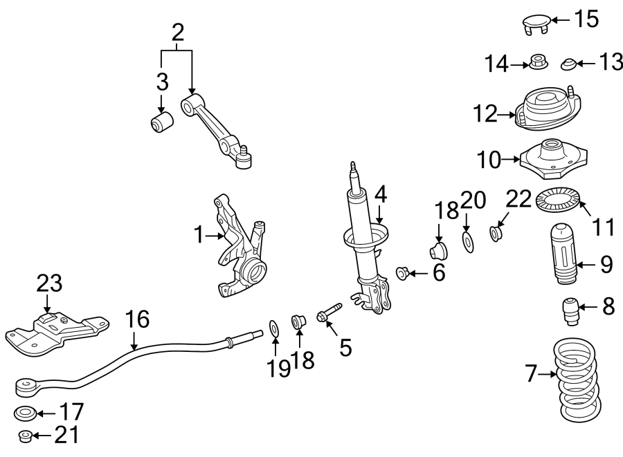2005 Kia Rio Suspension Control Arm (Left, Lower