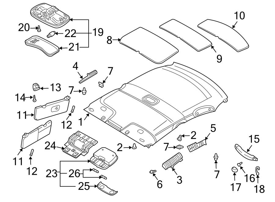 Kia Rio Sun visor. Sunvisor assembly left hand (lh). Sedan
