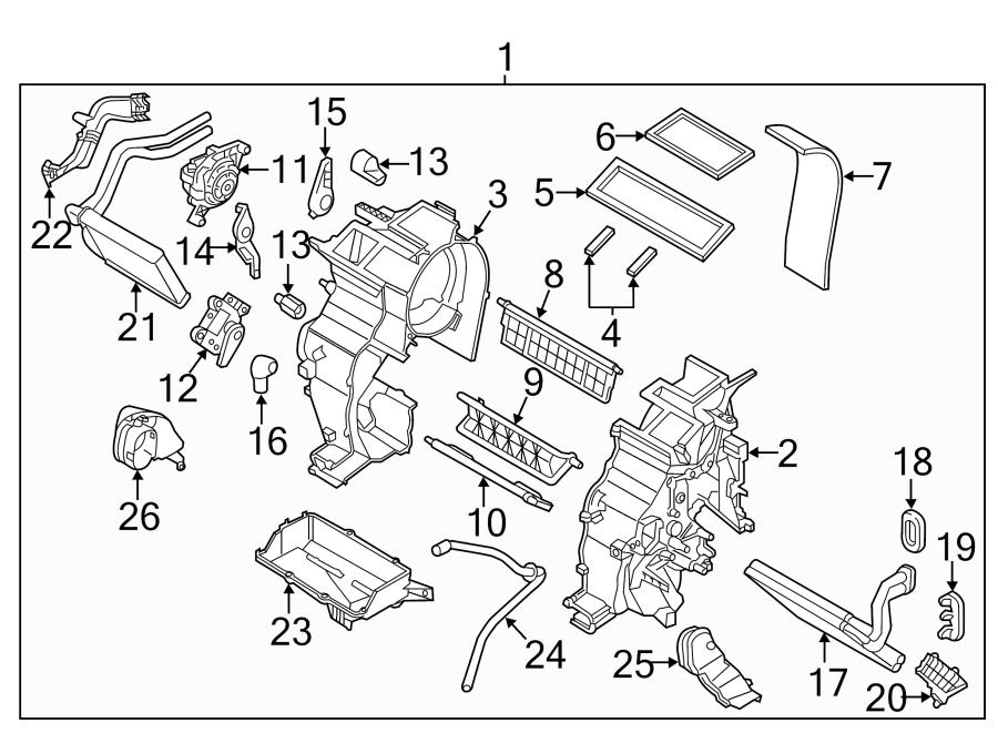 Kia Rio Hvac floor mode door actuator. Air, wrong, make