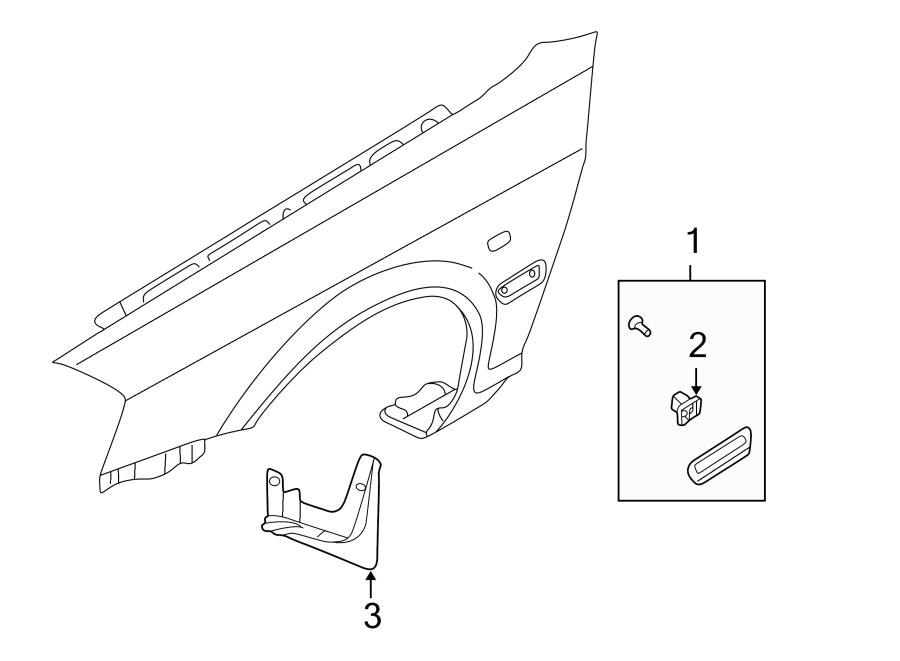 Kia Optima Fender Molding (Left, Upper). LX. LINE, TRIM