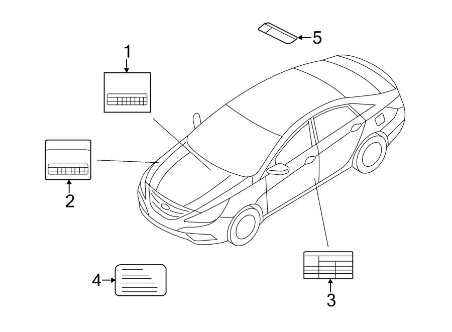 Kia Optima A/c system information label. W/2.0 liter turbo