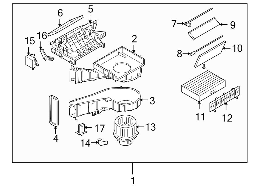 Kia Optima Hvac blower motor control module. Atc, assembly