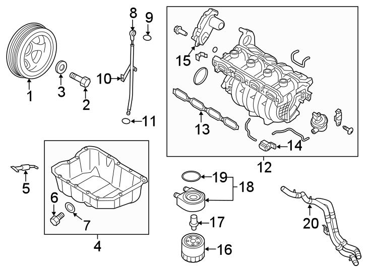 Kia Optima Engine Intake Manifold. LITER, Santa, TRANSAXLE