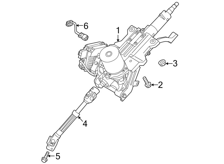 Kia Cadenza Steering Column (Upper). Cadenza; w/Power Tilt