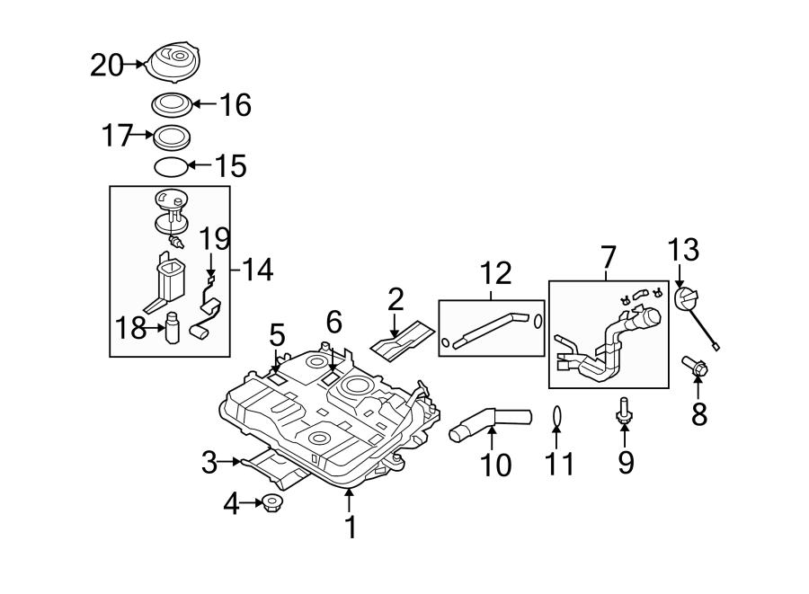 Kia Rondo Fuel Pump Tank Seal. EMISSIONS, SYSTEM