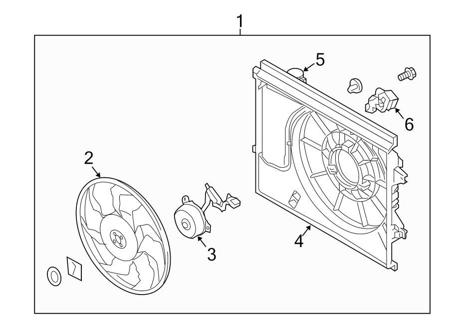 Kia Soul Engine Cooling Fan Resistor. LITER, Assembly