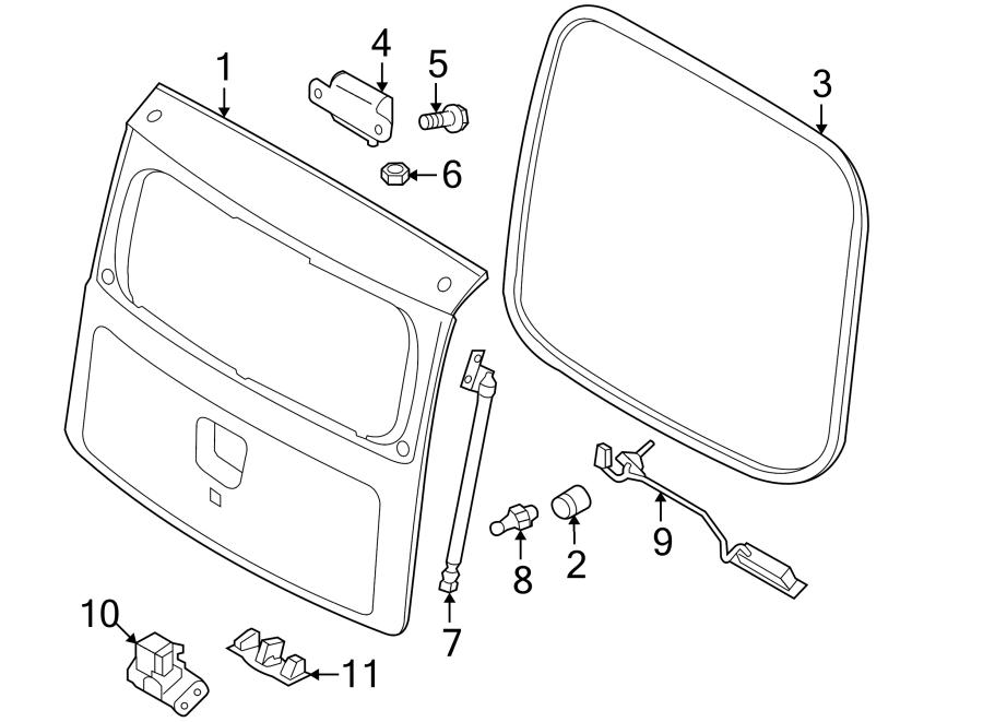 Kia Soul Hatch Lift Support (Left). GATE, Cylinder, Make
