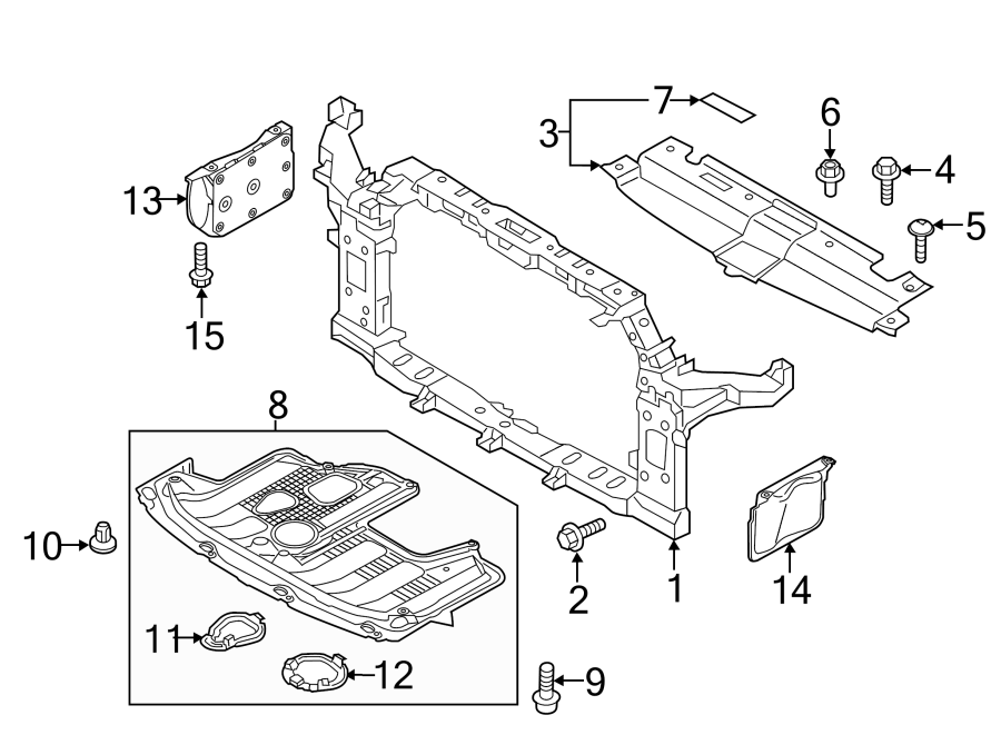 Kia Soul Radiator Support Side Panel (Right). Cover