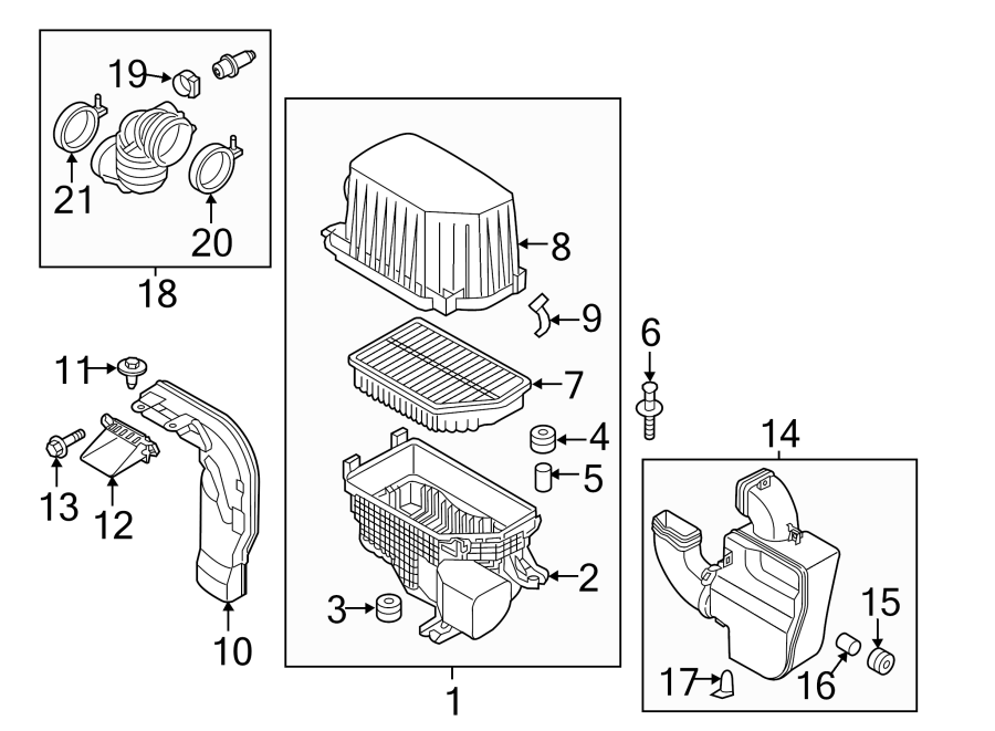 Kia Soul Engine Air Intake Resonator. 1.6 LITER, W/O TURBO