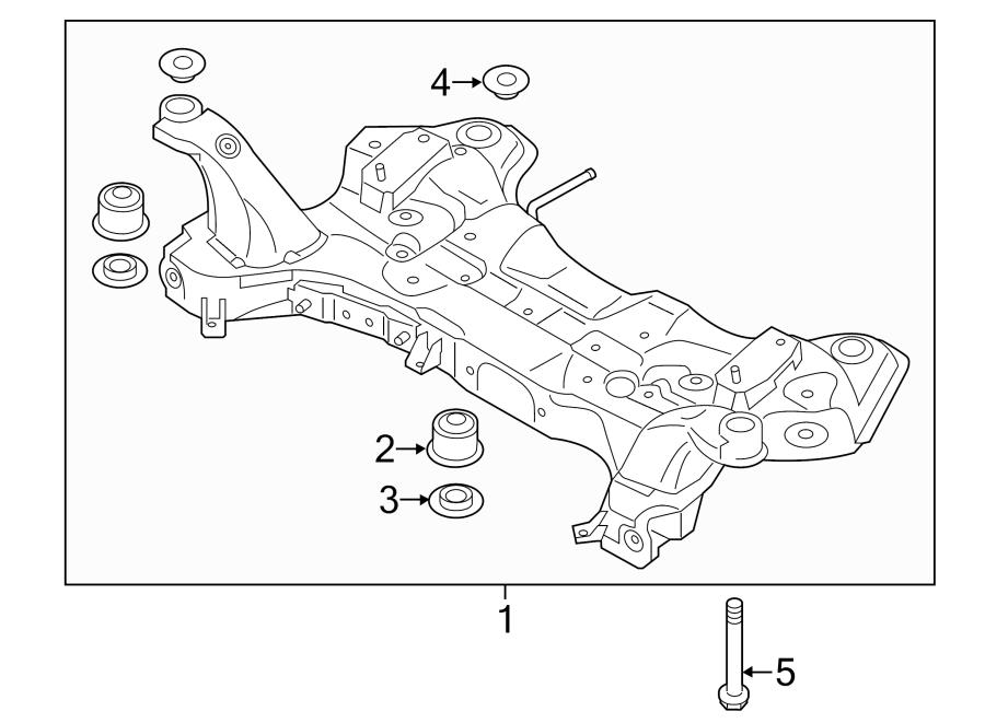 Kia Soul Engine Cradle. W/o EV. Suspension, Crossmember