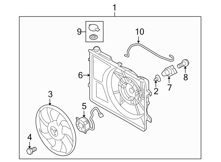 Kia Forte Engine Cooling Fan Shroud. LITER, Trans, Wauto