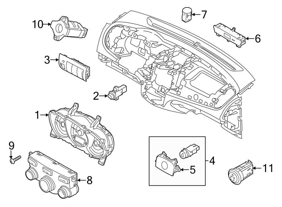 2012 Kia Forte Stab cntl switch. Stability Control Switch