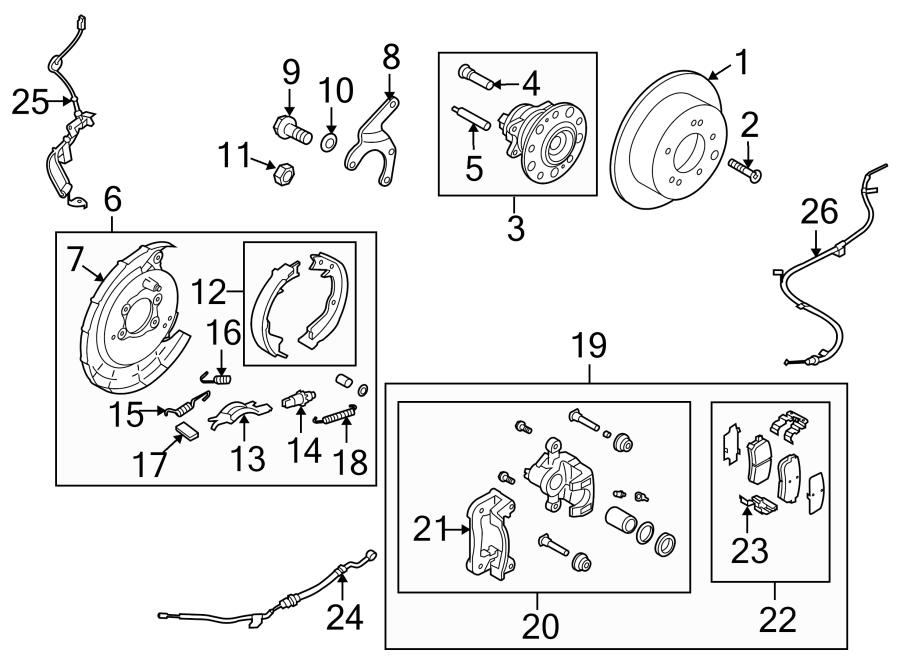 Kia Forte Koup Screw. Rotor. Brake. Hub. Rear, LITER
